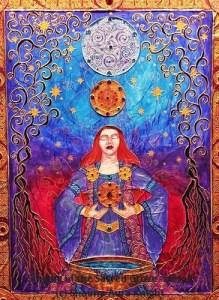 Singing in the Sacred Grove (Center Panel) (c) Shauna Aura Knight