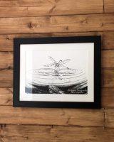 dragonfly reflection art print