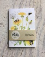 bumblebee and dandelion pocket notebook