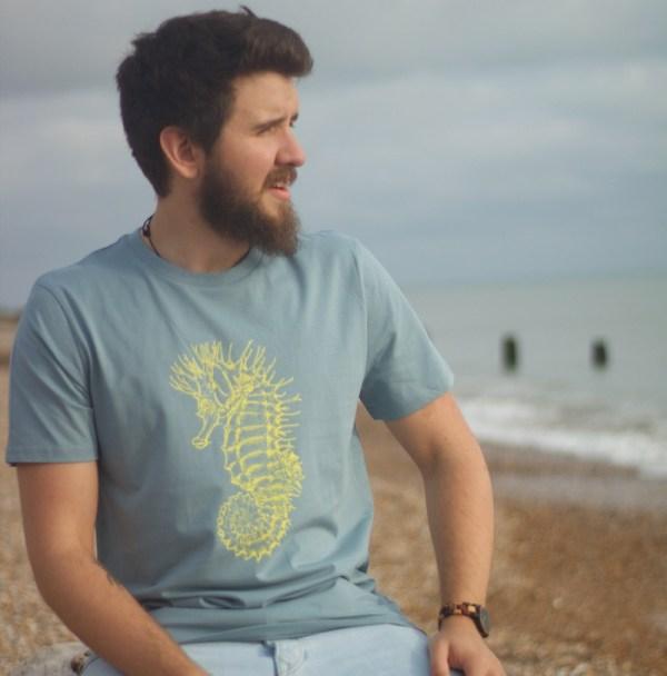 seahorse t-shirt citadel blue