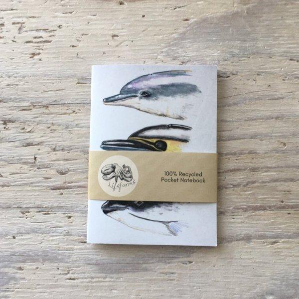cetacean faces pocket notebook band