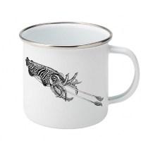 Common cuttlefish enamel mug