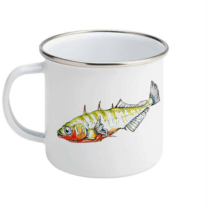 Stickleback enamel mug