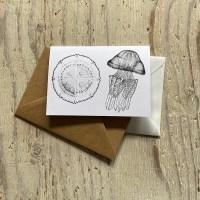Barrel jellyfish greetings card
