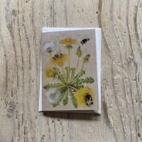 Bumblebee and Dandelion Greetings Card