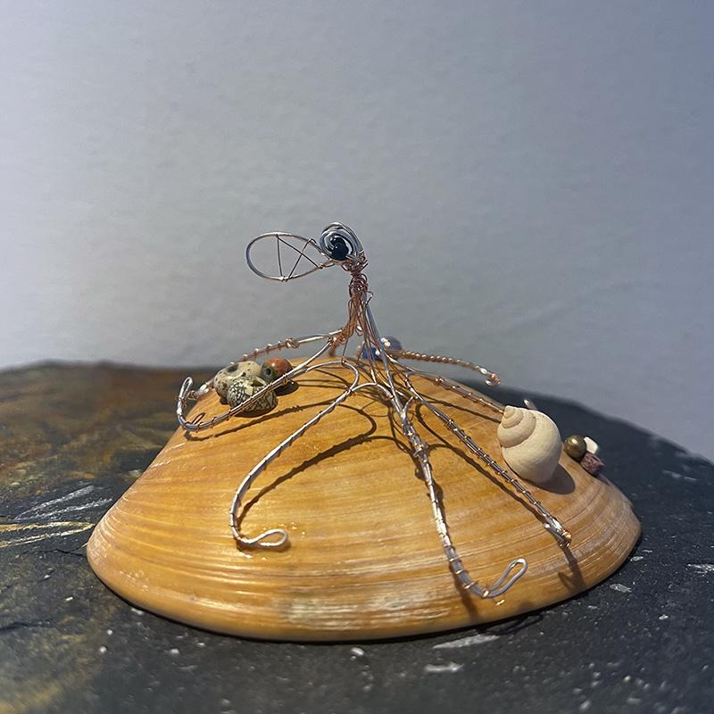 otis curled octopus wire sculpture