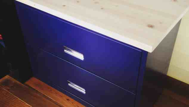 diy project refurbished filing cabinet from the dumpster