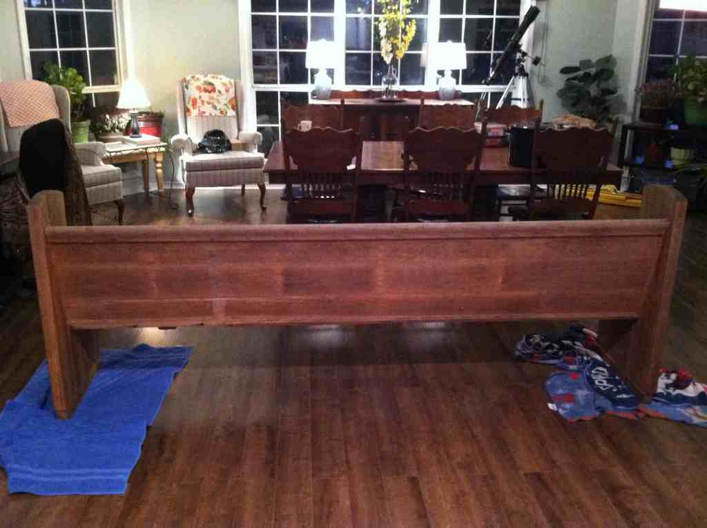 Life Full and Frugal/Craigslist Church Pew