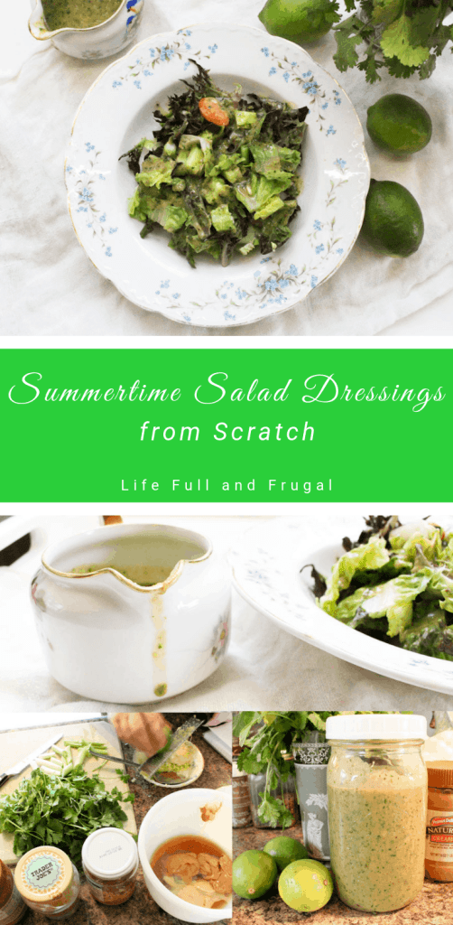 Summertime Salad Dressings from Scratch life full and frugal pinterest