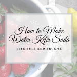 How to Make Water Kefir / Life Full and Frugal /Strawberries Lemon and Lemon Verbena