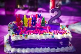 Happy Birthday 2 2nd birthday purple cake