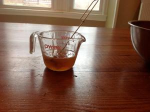 water, honey and vanilla
