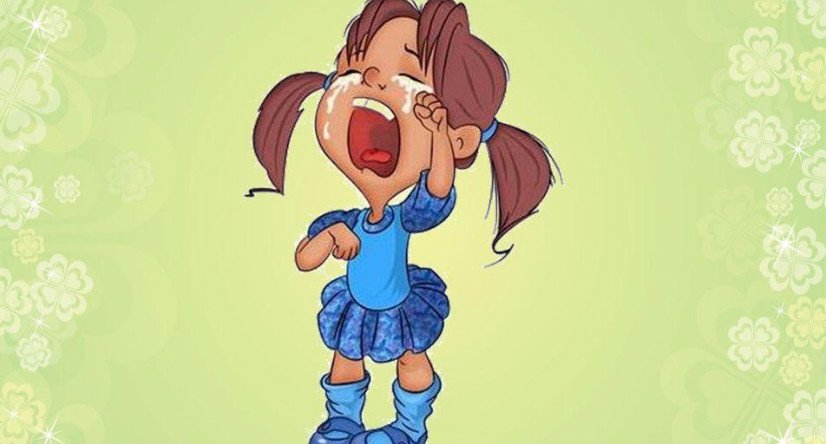 Открытки плачущая девочка