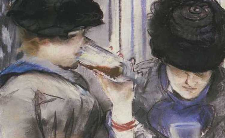 Эдуард Мане Две пьющие женщины в Бок 1878