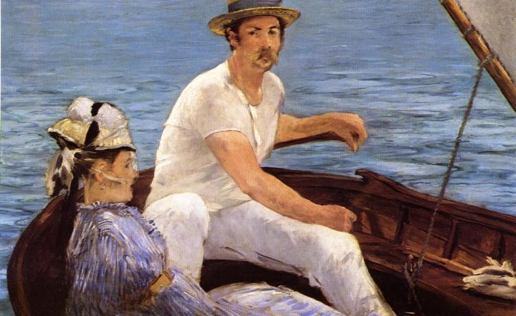 Эдуард Мане В лодке 1874 Мужчина в лодке - Ги де Мопассан
