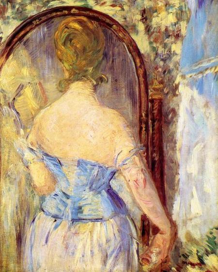 Женщина перед зеркалом 1877 Эдуард Мане