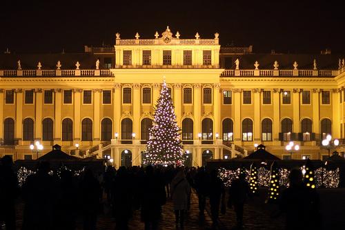 Шенбрунн, рождественский базар в Вене