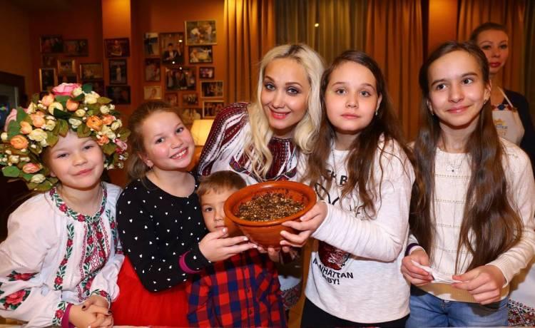 украинские звезды, украинские артисты, 12 постных блюд, Рождество, дети