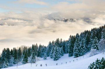Горы зима тишина