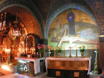 Стояние Богородицы, Голгофа, Храм гроба Господня