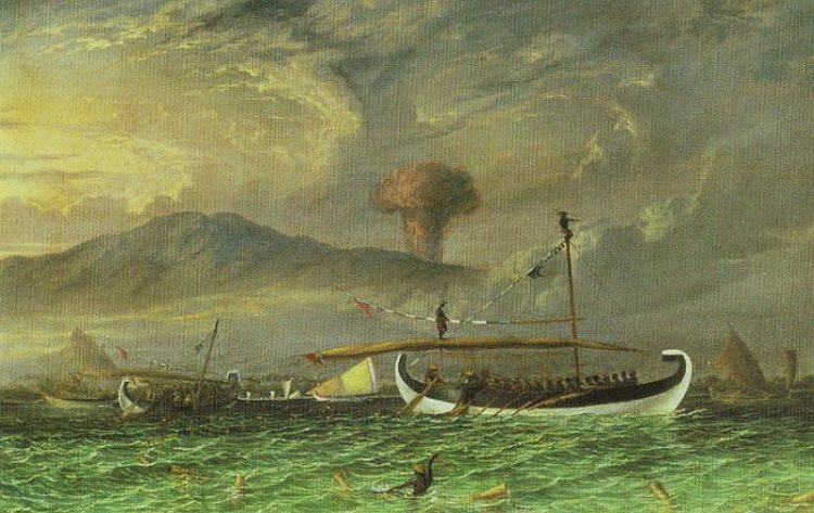 Извержение вулкана Тамбора, Извержения вулканов, вулканы в искусстве