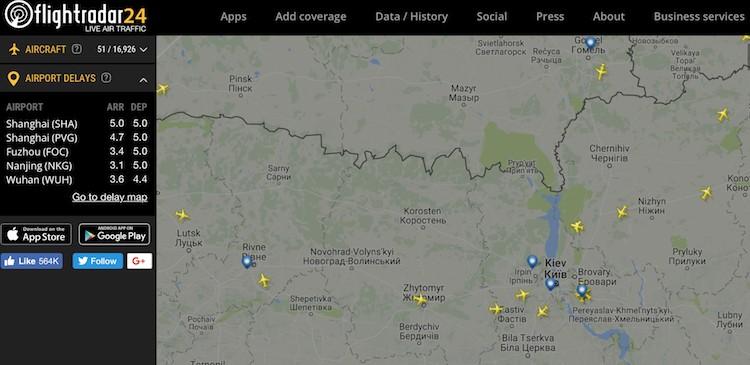 самые необычные сайты планеты, флайтрадар, сколько самолетов в небе