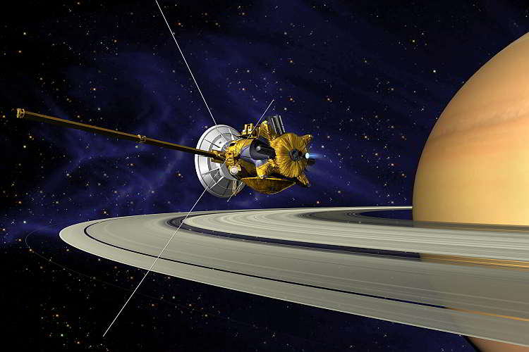 космонавтика, Новости космоса, Кассини с Сатурном