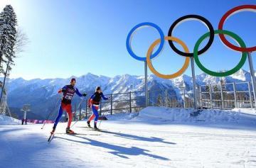 Зимняя Олимпиада, Пхенчхан, олимпийские кольца, лыжники