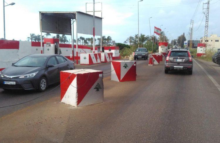 Ливан, Тир, блокпосты в Ливане