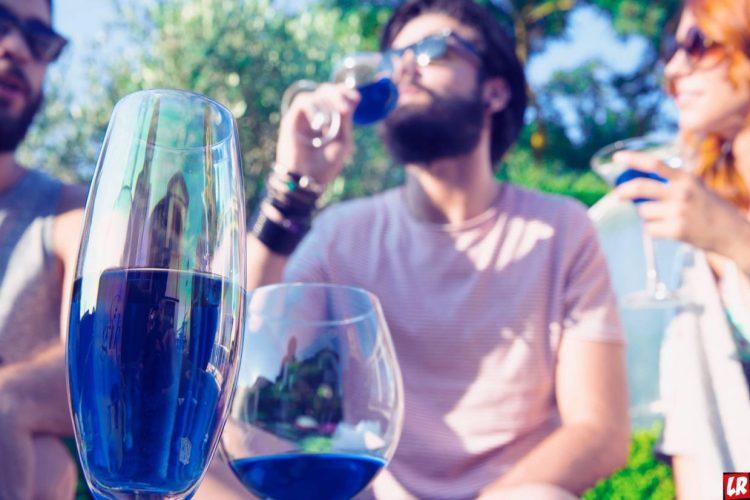голубое вино, Испания, пить вино