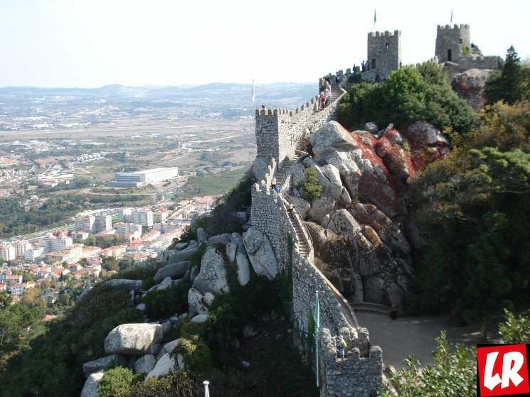 Синтра, крепость Мавров, путешествие в Португалию