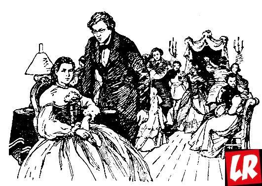 Чернышевский с женой, рисунок