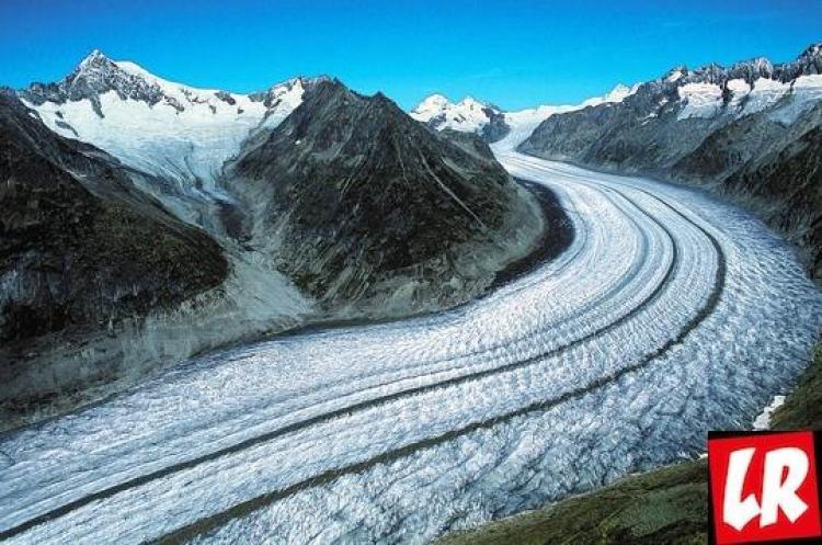 ледник, лето, зима, Алеч, Швейцария, Альпы, горы, пейзаж, Лучшие места отдыха