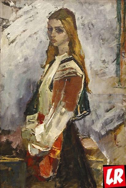 Василий Забашта, картина, девушка, Украина