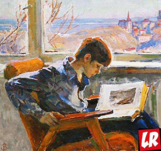 Сын, портрет, Василий Забашта, художник, живопись, Украина