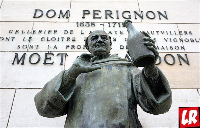 История шампанского, Дом Периньон, памятник