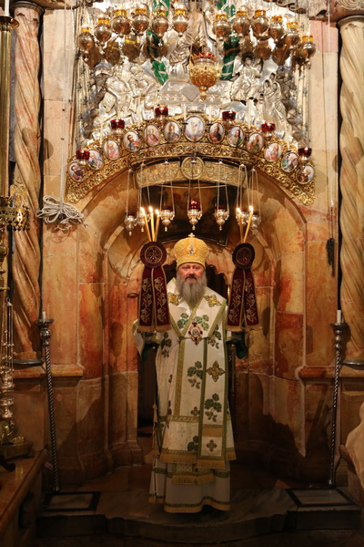 Храм Воскресения, Иерусалим, владыка Павел