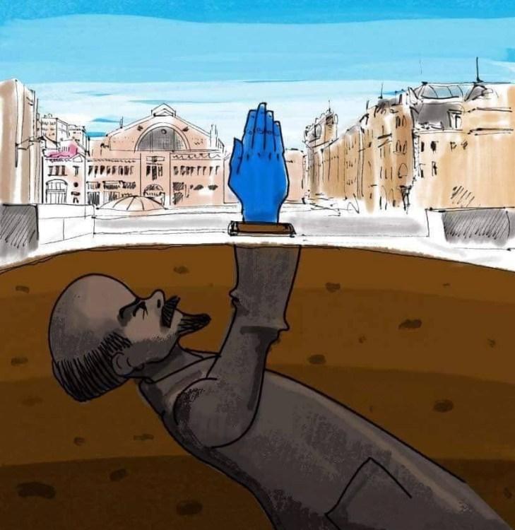 Синяя рука, Киев, Ленин, что означает синяя рука