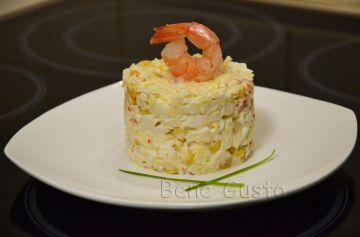 рецепт, салат с крабовыми палочками, крабовые палочки