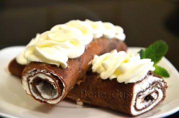 шоколадные блинчики, рецепт, блины, шоколад, творог, завтрак