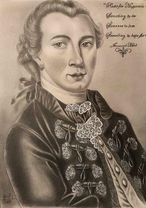 Иммануил Кант, философ, портрет