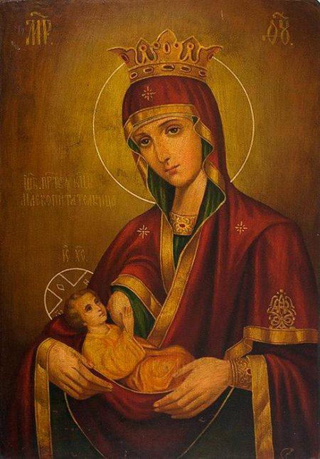 Редкие иконы Богородицы, Икона Млекопитательница, молодым семьям