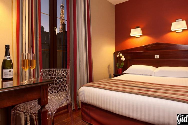 отели Парижа, Eiffel Rive Gauche, отели с видом на Эйфелеву башню, Париж, Франция, вид из окна