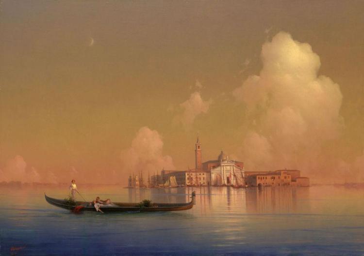 Иван Константинович Айвазовский - Вид Венеции. Сан-Джорджо Маджоре - 1851
