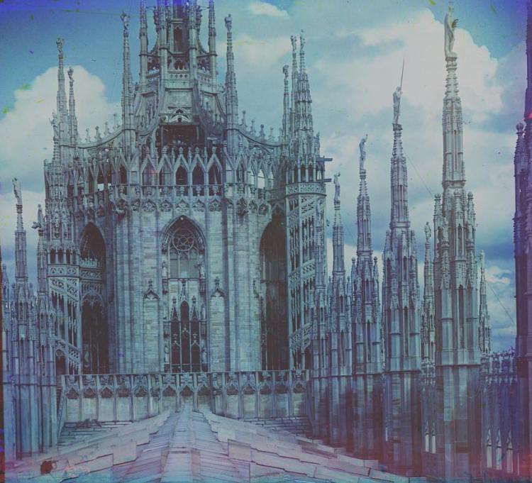 Милан, Дуомо, собор, историческое фото, Сергей Горский