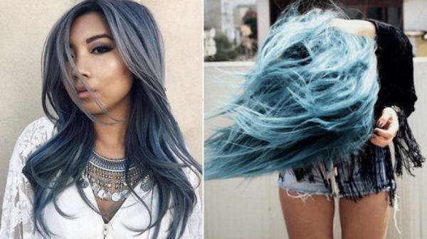 Синие волосы у девушек. Фото каре, короткая стрижка ...
