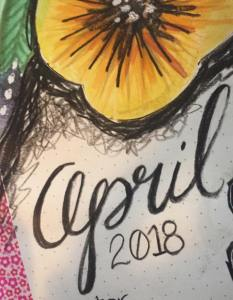 Plan With Me > April 2018 Bujo Cover Page
