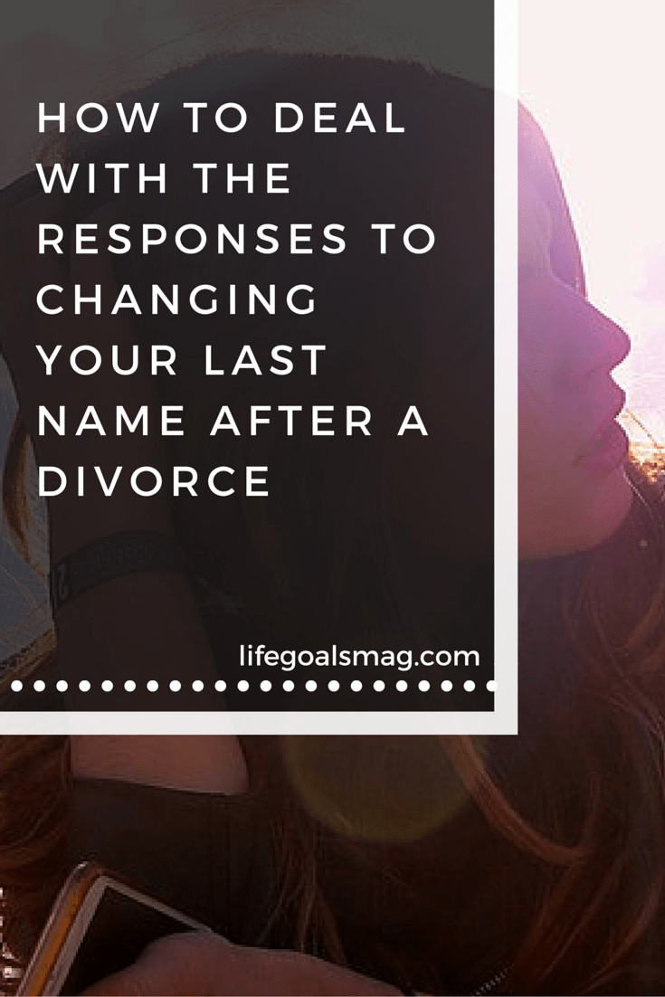How to deal with changing your last name after a divorce. What to say when people ask and how to be more mindful.