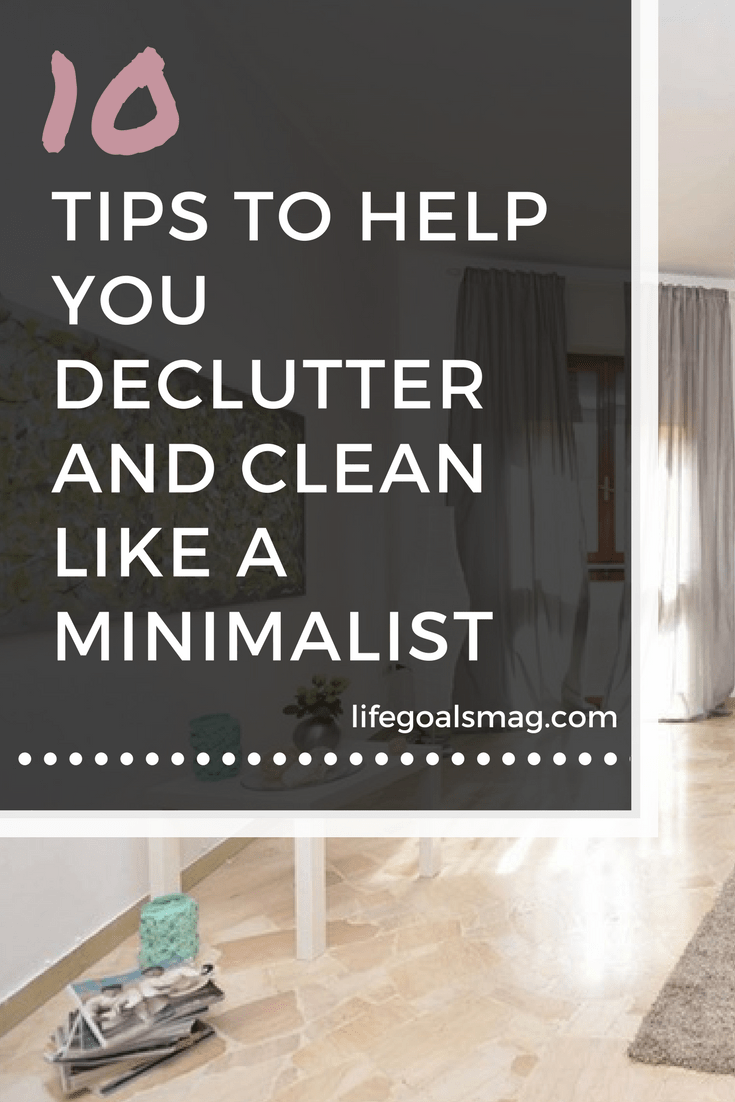 how to declutter and clean like a minimalist
