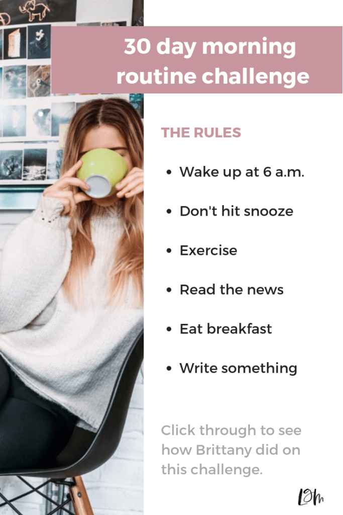 want to start a new morning routine? try this plan for 30 days to kick your bad morning habits. wake up early, and start your day off right.